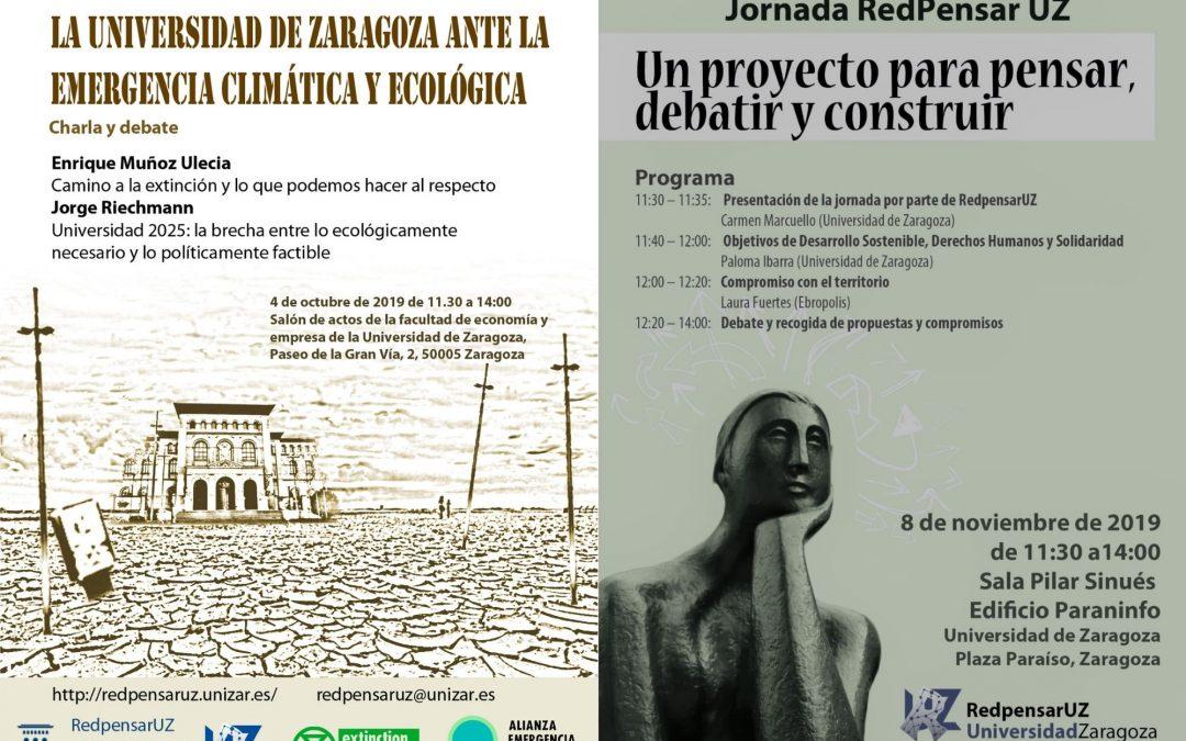 Jornadas RedPensarUZ de Pensamiento y Debate sobre la Universidad