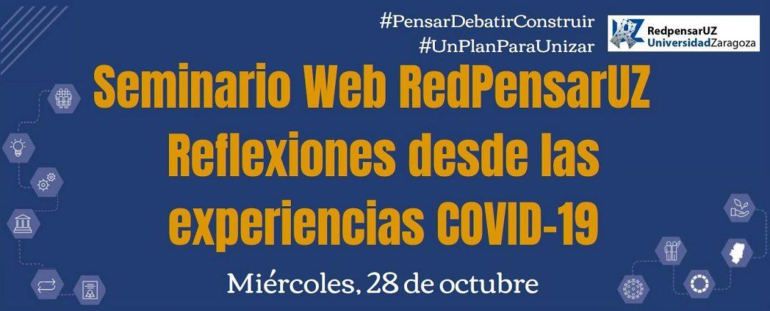 RedPensarUZ lanza un seminario de debate sobre la Universidad en tiempos del COVID-19